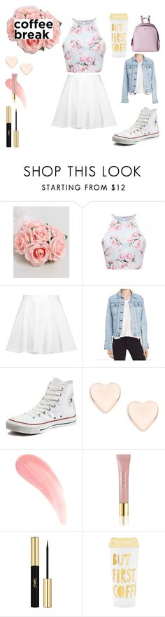 """""""But first coffee"""" by k-ahmad on Polyvore featuring ASOS, Alice + Olivia, rag & bone, Converse, Ted Baker, AERIN, Yves Saint Laurent, ban.do and MCM"""