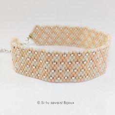 Élégante manchette ton sur ton ✨ #bijoux #manchette #madeinfrance #createur #handmade #faitmain #createurfrancais #artisanat #miyuki #tissage #bracelet