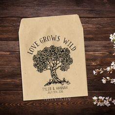 Wedding Seed Packets Rustic Wedding Favor by MinikinGifts on Etsy