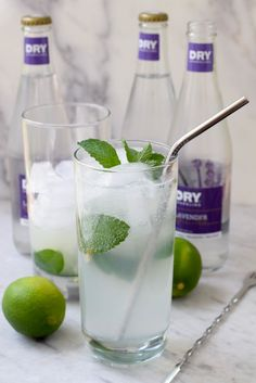 Easy-to-make, lavender mojitos are the perfect summer sip. So delicate and refreshing!