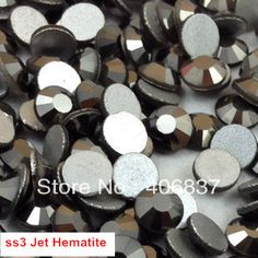 Free Shipping! 1440pcs/Lot, ss3 (1.3 1.5mm) Jet Hematite Flat Back Non Hotfix Nail Art Rhinestones-in Rhinestones from Home & Garden on Aliexpress.com | Alibaba Group