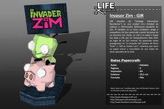 """GIR (iniciales de «Garbage Information Recollector"""") es una unidad U.C.I (Unidad de Captura e Información) defectuosa ayudante de Zim. Él también es su único verdadero amigo y compañero,  ... #gir #invader #lifepapercraft #nickelodeon #paper #papercraft #zim Nickelodeon, Joker, Girly, Paper Crafts, Invader Zim, Unity, Initials, Women's, Girly Girl"""