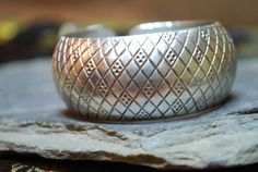 Tibetan Silver little foot prints Bangle!