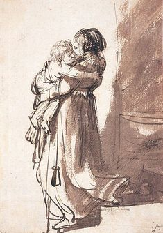 File:Rembrandt - Woman Carrying a Child Downstairs.jpg