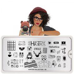 Hipster Nail Art Design 02