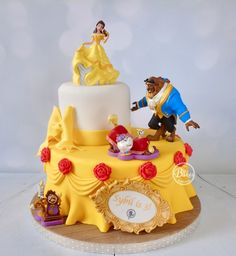Beauty and the Beast cake by BuBakes (BuBakes.co.uk)