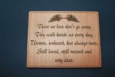 Memorial magnet by LMKENGRAVING on Etsy