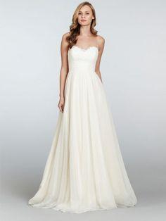 "Jim Hjelm Blush By Hayley Paige ""Dahlia"" Style 1304 Size 4 Wedding Dress – OnceWed.com"