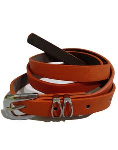 Belts for Women – Plain Orange