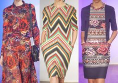 2013 GRAPHIC ART  AUTUMN WINTER FASHION | Eclectic Prints – Chevrons and Border Prints – Intense Autumn ...NO WALL FLOWERS HERE!
