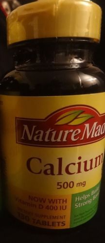 Nature Made Calcium 500mg Build Strong Bones 130 Tablets List No 2517 | eBay
