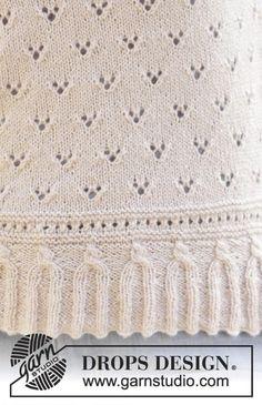 Baby Knitting Patterns, Lace Patterns, Lace Knitting, Knitting Stitches, Vintage Patterns, Crochet Patterns, Afghan Patterns, Amigurumi Patterns, Drops Design