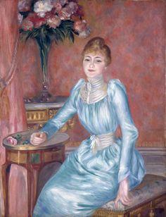 Pierre Auguste Renoir-portrait-of-madame-de-bonnic-1889