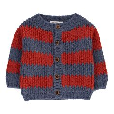 Bobo Choses Striped Cardigan Navy blue