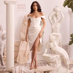 Greek Goddes Dress #dress #blogger #wishlist Corset, Off The Shoulder, One Shoulder Wedding Dress, Greek, Ivory, Satin, Wedding Dresses, Model, How To Wear