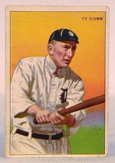 old tobacco baseball cards pinterest | 1912 T227 Honest Long Cut Ty Cobb Baseball Tobacco Card
