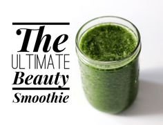 "This glowing green smoothie rom celebrity nutritionist Kimberly Snyder has everything you need for beautiful skin, hair, and nails. With clients like Drew Barrymore, Reese Witherspoon, Rooney and Kate Mara, Dita Von Teese, and Channing Tatum, she says ""outer beauty is a reflection of inner health."""