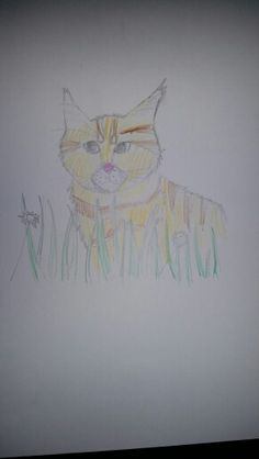 Kitten in the grass. Who watches Attack on Titan? Repin with credit! Drawn by Echo Bravo.