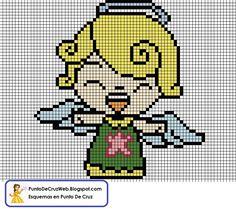 ángel punto de cruz