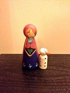 Frozen inspired peg dolls