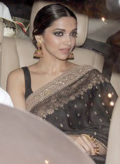 DP is evolving in a cinema saree goddess. With every saree she looks more and more stunning.