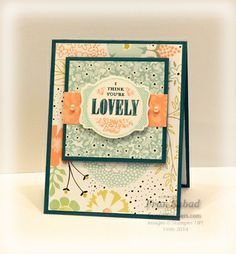 Fran Sabad using the SU! SAB You're Lovely set with the Deco Labels Framelits - stampersblog: You're Lovely