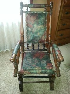 Redid my mother's antique platform rocker. Think it turned out pretty nice.