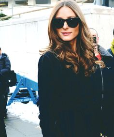 Olivia Palermo. Those shades are perfect for her. And I want my hair to look like this all the time.