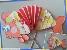 This page has a lot of free Accordion craft idea for kids,parents and preschool teachers. Sea Crafts, Fish Crafts, Paper Crafts, Preschool Art Projects, Preschool Crafts, Crafts For Seniors, Crafts For Kids, Toddler Activities, Fun Activities