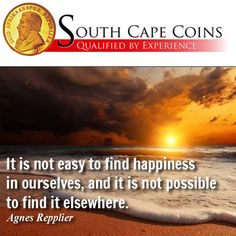 """""""It is not easy to find happiness in ourselves, and it is not possible to find it elsewhere.""""- Agnes Repplier  #Quotes #Happiness #Possible"""