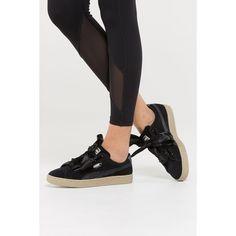 be2e59b1ab027 Puma Women s Basket Heart Metallic Safari Black Beige. Culture KingsShoe ...