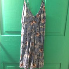 Forever 21 romper Blue romper with flowers and swans Forever 21 Other