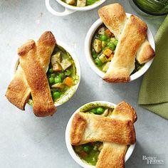 Easy Turkey-Pesto Pot Pie