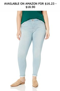 c4a35925a69 dollhouse Women s Size Belize Plus Denim ◇ AVAILABLE ON AMAZON FOR   16.23  -  18.90 ◇ Basic skinny jean for everyday wear with finished hem