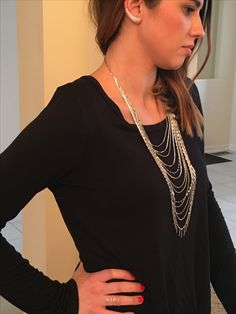Stella & Dot Spring 2017. Haven ear climbers, Lindsay layering necklace and Gwen ring.