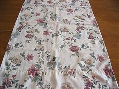 Vintage Cannon Pink Roses Floral Cream Standard Size Cotton Blend Pillowcase