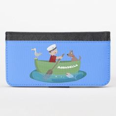 Cute boy sailor and dog rowing boat cartoon iPhone x wallet case #motorcycles #entertainment #food saltwater fishing, fishing rod carrier, fishing rod drawing, dried orange slices, yule decorations, scandinavian christmas Girls Fishing Quotes, Fishing Girls, Fishing Rod Carrier, Boat Cartoon, Different Fish, Cute Fish, Fishing Humor, Iphone Wallet Case, Rowing