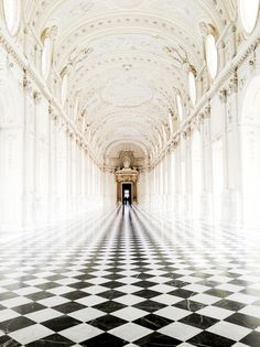 Inspiring photo of Château de Chenonceau, Loire Valley, France. So perfect, though I would floor in sepia tones. Beautiful Architecture, Art And Architecture, Beautiful Buildings, Checkerboard Floor, Loire Valley, Paris, The Places Youll Go, Interior And Exterior, Palace Interior