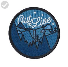 Asilda Store Out to Live Glow in the Dark Outdoor Embroidered Sew or Iron-on Patch - Dont forget to travel (*Amazon Partner-Link)