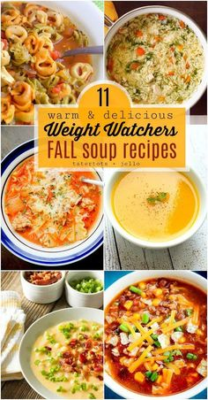 Healthy Weight 11 Warm and Delicious Fall Weight Watchers Soup Recipes! - 11 Warm and Delicious Fall Weight Watchers Soup Recipes. Keep on track this Fall with these easy and fast soup recipes with Weight Watcher's Points! Weight Watcher Dinners, Weight Watchers Points, Weight Loss Meals, Weight Watchers Desserts, Weight Loss Soup, Weight Watcher Recipes, Weight Watchers Chili, Weight Watchers Vegetarian, Weight Watchers Recipes With Smartpoints