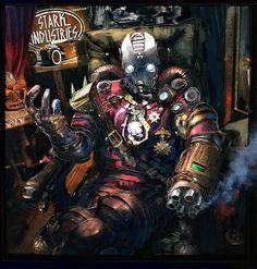 Steampunk Iron Man by Klaus Wittmann