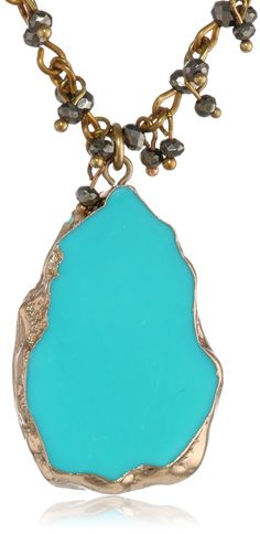 """Lucky Brand """"Fond Yearning"""" Turquoise Pendant Necklace, 21"""". Made in China."""