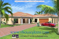 Overall Dimensions- x 2 Car Garage Area- Square meters Family House Plans, House Floor Plans, Garage Plans, Car Garage, Building Costs, Site Plans, Square Meter, Home Collections, House Design