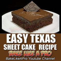 Easy Chocolate Texas Sheet Cake Recipe ►►► CLICK PICTURE for video recipe