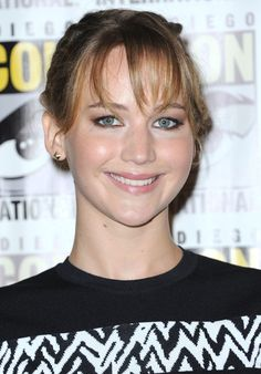 Jennifer Lawrence wearing a Proenza Schouler black and white ensemble at the Comic-Con International 2013 – 'The Hunger Games: Catching Fire' Photo Call in San Diego on July 20, 2013