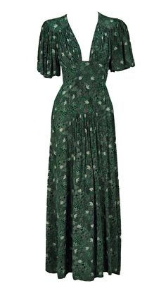 This vintage maxi would be a dream to wear during the summer - instant glam without being OTT Ossie Clark from Resurrection Vintage