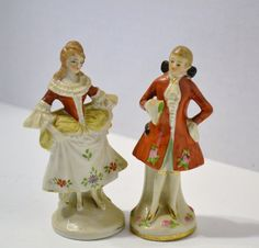 Vintage Colonial Woman and Man Made in Germany by PanchosPorch