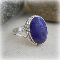 Sterling Silver Sapphire ring,sz 7,reiki,new age,wicca,gemstones