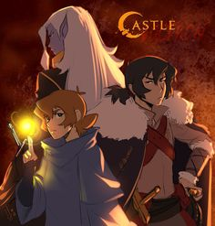 Keith and Pidge with Prince Lotor in Castlevania x Voltron from Voltron Legendary Defender