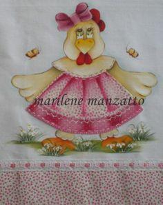Pano de prato Chicken Quilt, Chicken Crafts, Decoupage, Coq, Textiles, Craft Fairs, Cute Cartoon, Princess Peach, Rooster